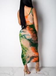 Falda de chaleco sexy en toda regla traje de dos piezas sin mangas medio de longitud falda cuello redondo ropa de mujer vestido de chaleco sexy de dos piezas de moda