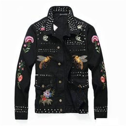 Mens nails online shopping - 2019 Mens Jacket Slim Nail Denim Jacket Mens Badge Denim Long Sleeve Designer High Quality Jacket