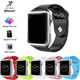 $enCountryForm.capitalKeyWord Australia - Android Wear A1 Smart Wrist Watch Bluetooth Waterproof GSM Phone Large-Capacity SIM SMS For Android Samsung iPhone with retail box