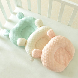 $enCountryForm.capitalKeyWord Australia - Herbabe 100% Cotton Baby Pillow Newborn Animal Shape Baby Prevent Flat Head Cushion Infant Nursing Pillows Toddler Sleep Pillow