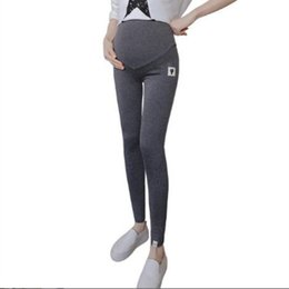 44827969ee3a3 Spring Fashion Korean version of maternity knit leggings high stretch  stomach lift pants pregnant waist adjustable pants