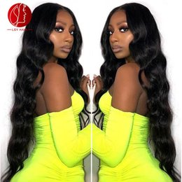 lace front wig human hair 28 Australia - Free shipping European and American wigs 26 28 30 size Human Hair wigs body wave Front lace wig Full lace wig