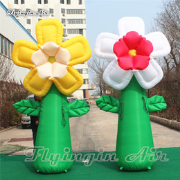 $enCountryForm.capitalKeyWord Australia - Customized Party Supplies 3m Height Inflatable Blossoming Flower With Green Stem For Shopping Mall Theme Decoration