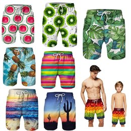 Father Daughter Matching Clothes Australia - Father And Son clothes family matching Beach Shorts Boys printed 2 Layers Shorts baby Outfit Boy Summer vacation Children Beach Pants XZT078