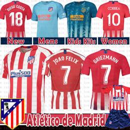 5ad8c2c4 2019 Atletico GRIEZMANN Madrid Soccer Jersey KOKE SAUL GODIN TORRES CORREA  Costa Luis GABI Gimenez THOMAS Kids Kits Women Men football shirt