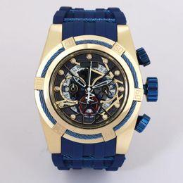 Auto Calendar Quartz Clock Australia - New Style INVVCTA Wristwatch Rose Gold Quartz Watch Men Sport Military DZ Watches Silicone Strap Army Calendar Clock