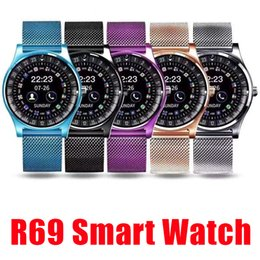 Bluetooth Smart Watch Sim Australia - 2019 New R69 Smart Watch Bluetooth Smartwatches For Android Smartphones SIM Card Slot NFC Health Watchs for Android with Retail Box
