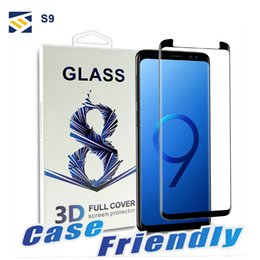 BuBBles case online shopping - For Samsung Galaxy S9 S8 Plus Note S7 Edge Full Cover D Tempered Glass Case Friendly Bubble Free Screen Protector With Package