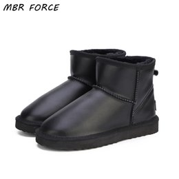 Waterproof Lady Snow Boot Australia - MBR FORCE Waterproof Genuine Leather Fur Winter Boots Warm Wool Women Boots Classic Snow Boots Women Shoes Lady Ankle Shoes