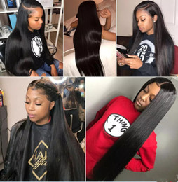 $enCountryForm.capitalKeyWord Australia - In stock beauty glueless 100% unprocessed remy virgin human hair long natural color silky straight full lace cap wig for lady