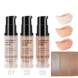 Face Glow Cream Australia - Color Salon Illuminator Makeup Highlighter Cream for Face and Body Shimmer Make Up Liquid Brighten Professional Glow Kit Cosmeti