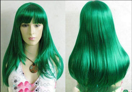 $enCountryForm.capitalKeyWord Australia - WIG FREE SHIP>>> New Charming Cosplay Long Straight Dark Green Wig Hivision