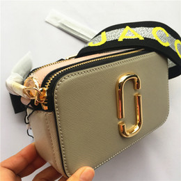 Army cAmerA bAgs online shopping - 2019 new camera bag wide shoulder strap letter small square bag leather ladies handbag double zipper small shoulder bag handbags
