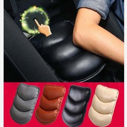 arm console UK - Car Auto Universal Vehicle Arm Rest Seat Box Pad Protective Case PU Mats Armrest Center Hand Pad Cover Console Cushion Box Lumbar Seat bP4y#