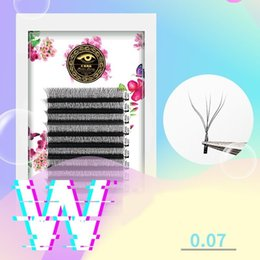 $enCountryForm.capitalKeyWord Australia - 20 Cases Mix W Mesh Woven Volume Mega Eyelashes Extension YY Type Grafting Eyelashes W Type Grafting Soft Thick 0.07