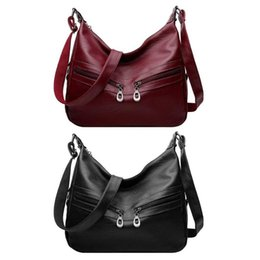 $enCountryForm.capitalKeyWord Australia - Women Hobos Handbag Zipper PU Leather Office Ladies Totes Pure Shoulder Bag Elegant Office Ladies Female Portable Bag Totes