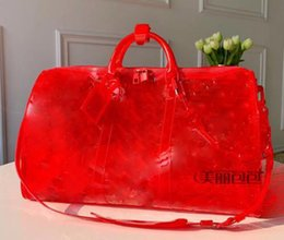 $enCountryForm.capitalKeyWord UK - 2019 New top pattern Luxury Laser Flash PVC Designer Handbags 50cm Transparent Duffle Bag Brilliant Colour Luggage Travel Bag Crossbodcec6#