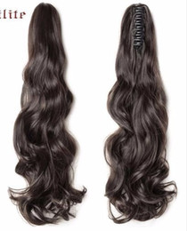 Chinese  Long Wavy Wrap Around Ponytail Claw In Hair Pieces Real Natural Extensions For Human 2019 manufacturers