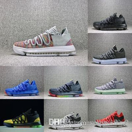 2018 Hot Sale New Color Zoom KD 10 Kevin Durant Blinders PE Men Women Basketball  Running Designer Shoes Sneakers 40-46 9eea9b651a0