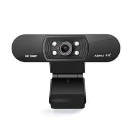 Ashu Webcam 1080p USB 2.0 Web digitalkamera med mikrofonklämma på full HD 1920x1080p 2.0 megapixel CMOS-kamera webbkamera