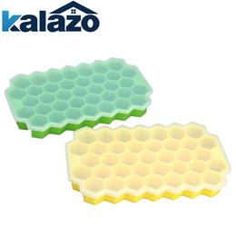 Ce Cream Maker Australia - 37 Grids Honeycomb Cubes Mold Fda Silicone Icecream Maker Popsicle Mould Diy Pops Yogurt Fridge Freezer Ice Cream Tools C19041301