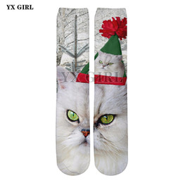 $enCountryForm.capitalKeyWord Australia - 2018 NEW 3d Printed Christmas Cat Dog Penguin Socks Women Men Santa Cotton Warm Cartoon Ankle Sock High Quality Funny Socks
