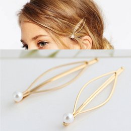 $enCountryForm.capitalKeyWord NZ - Simple atmosphere European and American style jewelry Wild pearl gold hairpin side clip hairpin tiara hair accessories