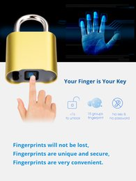 Smart Keyless Bluetooth Fingerprint Lock IP65 Waterproof Anti-Theft Security Fingerprint Padlock Door Luggage Lock on Sale