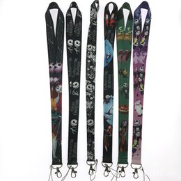 $enCountryForm.capitalKeyWord Australia - Skull Ghost head Neck Strap Lanyard for Phones ID card badge holder Keys Strap Skull Jack Lanyard Gifts for Christmas Night Cry
