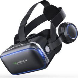 Casque VR Realidade Virtual óculos 3 D 3D Óculos Headset Capacete para iPhone Android Smartphone inteligente Stereo Telefone em Promoção