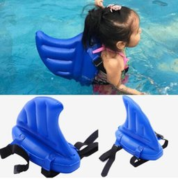 AnimAl swimming inflAtAble floAt online shopping - Child Toy Air Inflatable Pool float Mattress learning to Swim Artifact Shark Fin children swimming pool floats KKA6803