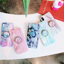 $enCountryForm.capitalKeyWord Australia - Hot Sale Laser Marble Phone Case for iPhone XS Max XR X 8 7 6 Plus Soft TPU Silicone phone cases with Bracket