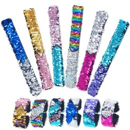 $enCountryForm.capitalKeyWord Australia - 12 Pack Little Mermaid Magic Charm Reversible Sequin Slap Bracelets, Birthday Party Favors Supplies Gifts for Girls Kids