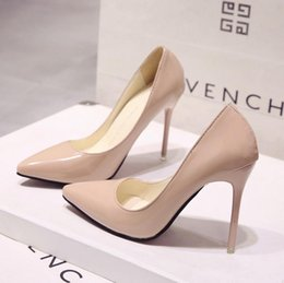 Dress Shoes 2019 women s single spring and summer high heel women s fine  with Korean version of the Princess wild pointed nude small fresh 9f3ec2f42116
