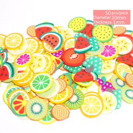 clay 3d art NZ - 50 300pcs Nail Art 3d Fruit Mix Designs Tiny Fimo Slices Polymer Clay DIY Beauty Nail Stickers Decorations