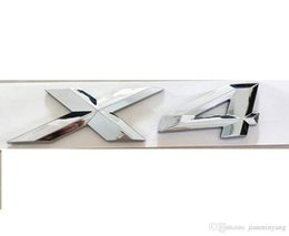 "numbers stickers decals NZ - Chrome "" X 4 "" Number Trunk Letters Badge Emblem Decal Letter Sticker for BMW X4"