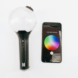Chinese  100pcs 2019 Kpop Light ARMY BOMB Ver.3 Light Stick Bangtan Boys Concert Glow Lamp Lightstick Fans Gift LED christmas Toys for kid manufacturers