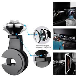stand headrest 2019 - Car Headrest Hanger Universal Car Phone Stand Holder 360 Degree Back Seat Magnetic Mount Holder for Cellphone iPad Table