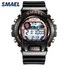 $enCountryForm.capitalKeyWord Australia - SMAEL Digital WristWatches Big Men Clock Cool Sport Watches for Men 50M Waterproof 0931 Watches Stainless Steel