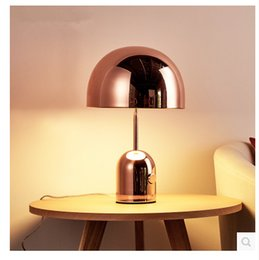 $enCountryForm.capitalKeyWord Australia - Rose gold Modern creative art table lamp personality fashion simple living room study bedroom bedside mushroom lamp