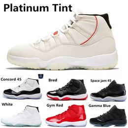 299d62a9cd3 Compre Concord 45 23 Platinum Tint 11s Hombres Mujeres Zapatos De Baloncesto  11 Calzado Deportivo Gimnasio Rojo Medianoche Azul Marino Space Jam Gamma  Blue ...