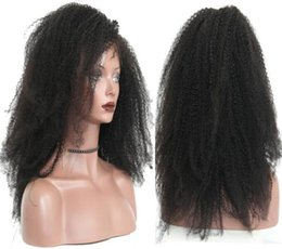 Peruvian Curly Human Hair Australia - Celebrity Wigs Full Lace Wig Natural Color 18inch Kinky Curly Virgin Peruvian Human Hair Lace Front Wig for Black Woman Free Shipping