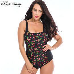 Polka Dot Swim Wear Australia - 2019 New Plus Size Swimwear Women One Piece Swimsuits Beach Padded Polka Dot Vintage Retro Bathing Suits Swim Wear