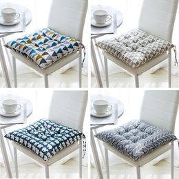 $enCountryForm.capitalKeyWord Australia - 45x45cm Home Seat Cushion Pad Office Bar Chair Back Seat Pure Color Cushions Sofa Pillow Buttocks Thickening Chair Cushion