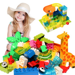 plastic building blocks toys big Australia - DIY Big Size Maze Ball Track Building Blocks Accessories Funnel Slide Bricks Block Educational Assembly Toys For Children