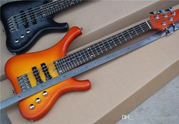 $enCountryForm.capitalKeyWord Australia - Orange 5 String Bass Guitar Electric Bass String with Beige Flame Veneer, Neck-thru-body, 81 cm, offering customized services