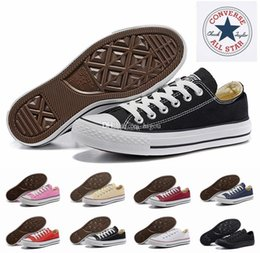 5d2b387cfed6 2018 converse Chuck All Star Core Casual shoe Low Cut Classic Black White  Red Canvas shoe Women Mens Skateboard Sneakers