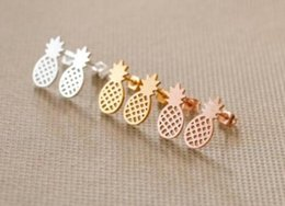 silver gold alloy NZ - High quality hollowed pineapple ear studs for women unique design new arrival alloy rose gold & silver & gold plating studs earrings fashion