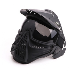 Paintball full face Protective mask online shopping - Tactical Breathable Full Face Mask Transformers Leader Mask Lens Vision Protective for Hunting CS Wargame Paintball Mask