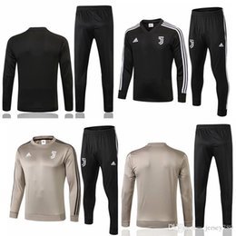 Full Zip Jacket Polyester Australia - 18 19 Juventus football jacket training suit 2018-19 RONALDO DYBALA jacket suit juve full zip football jacket sweater sportswear